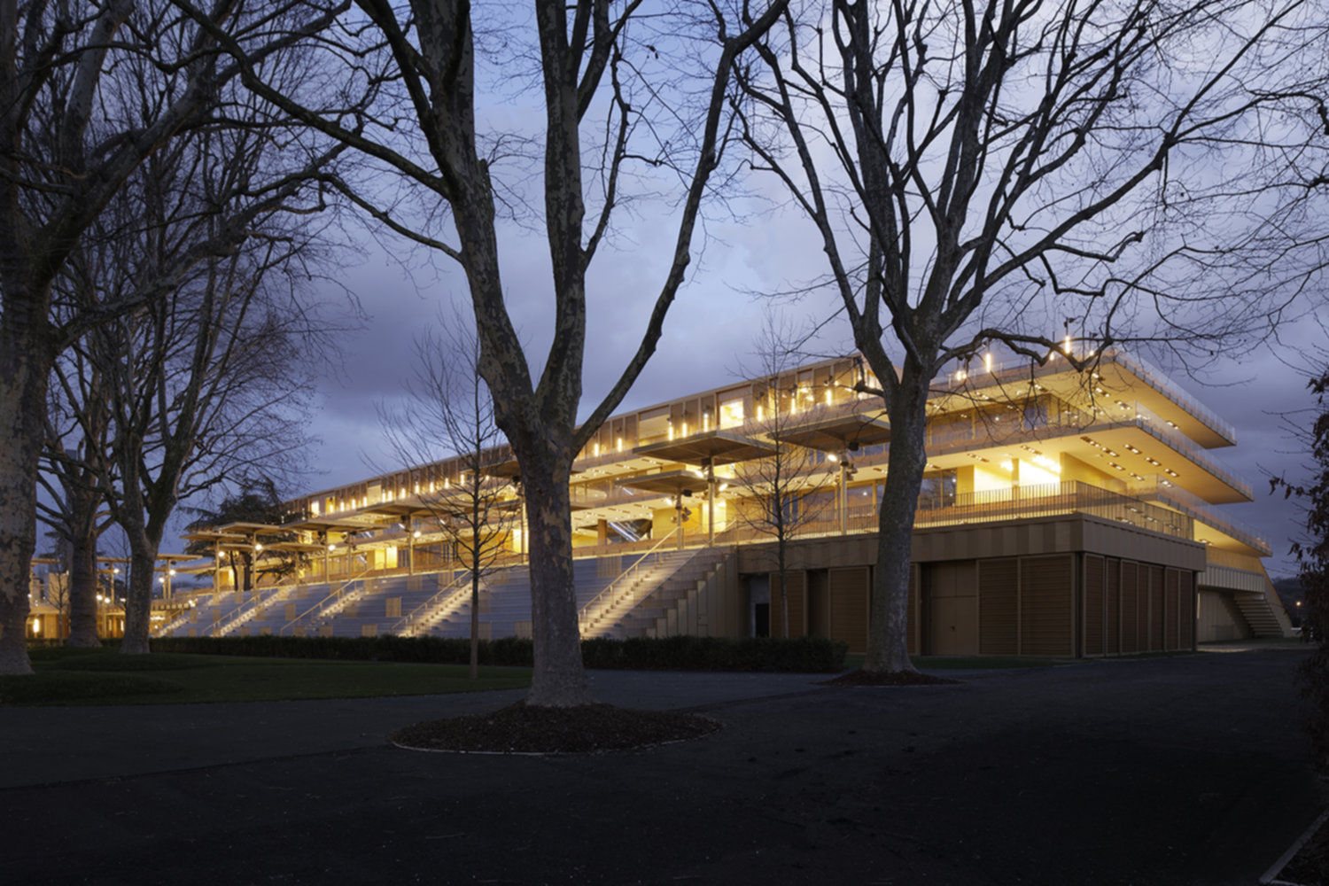 Le nouvel hippodrome Paris Longchamp de Dominique Perrault Architecture